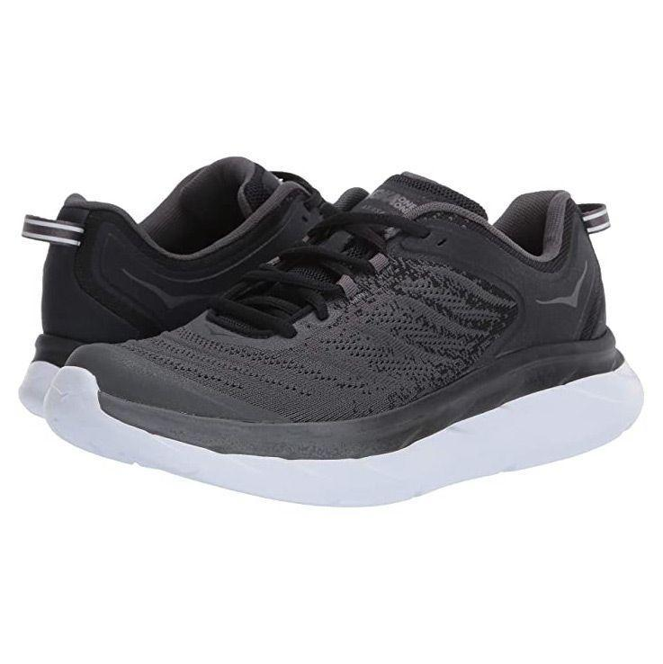 """<p><strong>Hoka One One</strong></p><p>hokaoneone.com</p><p><strong>$140.00</strong></p><p><a href=""""https://go.redirectingat.com?id=74968X1596630&url=https%3A%2F%2Fwww.hokaoneone.com%2Fwomen-view-all%2Fakasa%2F1099739.html&sref=https%3A%2F%2Fwww.goodhousekeeping.com%2Fclothing%2Fg33264582%2Fmost-comfortable-shoes%2F"""" rel=""""nofollow noopener"""" target=""""_blank"""" data-ylk=""""slk:Shop Now"""" class=""""link rapid-noclick-resp"""">Shop Now</a></p><p>Among <a href=""""https://www.goodhousekeeping.com/health-products/a25175667/plantar-fasciitis-shoes/"""" rel=""""nofollow noopener"""" target=""""_blank"""" data-ylk=""""slk:plantar fasciitis"""" class=""""link rapid-noclick-resp"""">plantar fasciitis</a> sufferers, Hoka One One sneakers are a popular pick because of the brand's signature footbed. With <strong>a structured foot frame</strong>, this sneaker keeps your whole foot supported from your toes to your arches, preventing strain. The rubber outer sole has a rocker design to make walking a bit easier with each step. </p>"""