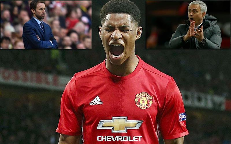 Marcus Rashford could find himself at the centre of a tug-of-war - REX FEATURES