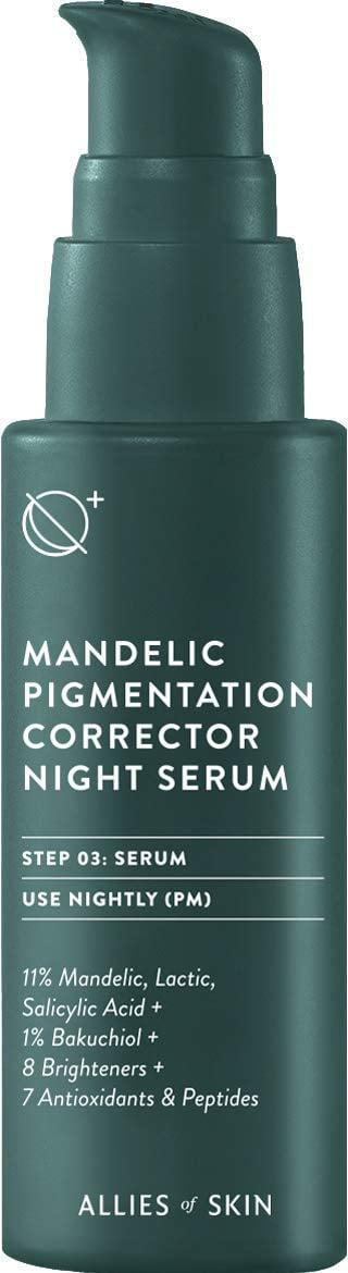 <p>The <span> Allies of Skin Mandelic Pigmentation Corrector Night Serum</span> ($92) may be a splurge, but it's truly the only product you would need to get your skin in tip-top shape. You don't need to buy and layer three different serums anymore. </p>