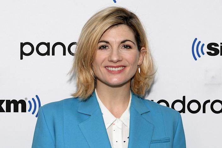 Jodie Whittaker visits SiriusXM Studios on January 06, 2020 in New York City. (Photo by Dia Dipasupil/Getty Images)