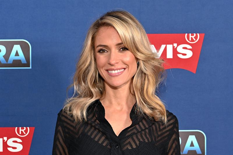 "NEW YORK, NEW YORK - APRIL 15: Kristin Cavallari visits ""Extra"" at The Levi's Store Times Square on April 15, 2019 in New York City. (Photo by Dia Dipasupil/Getty Images)"