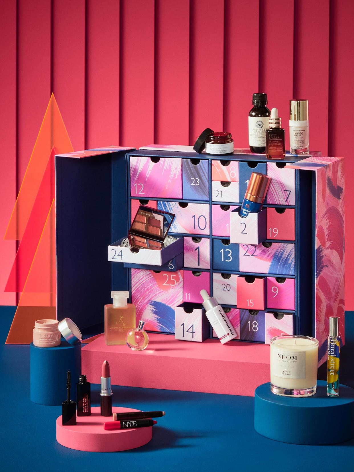 John Lewis' Beauty Advent Calendar includes 26 products (two to reveal on Christmas day). (John Lewis)