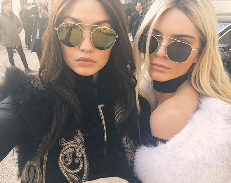 <br>Gigi Hadid and Kendall Jenner did a #KenGi swap, posting a selfie from the streets of Paris. The supermodel besties both walked in the Balmain show in Paris with their new 'dos, so we're guessing these are only wigs this time...