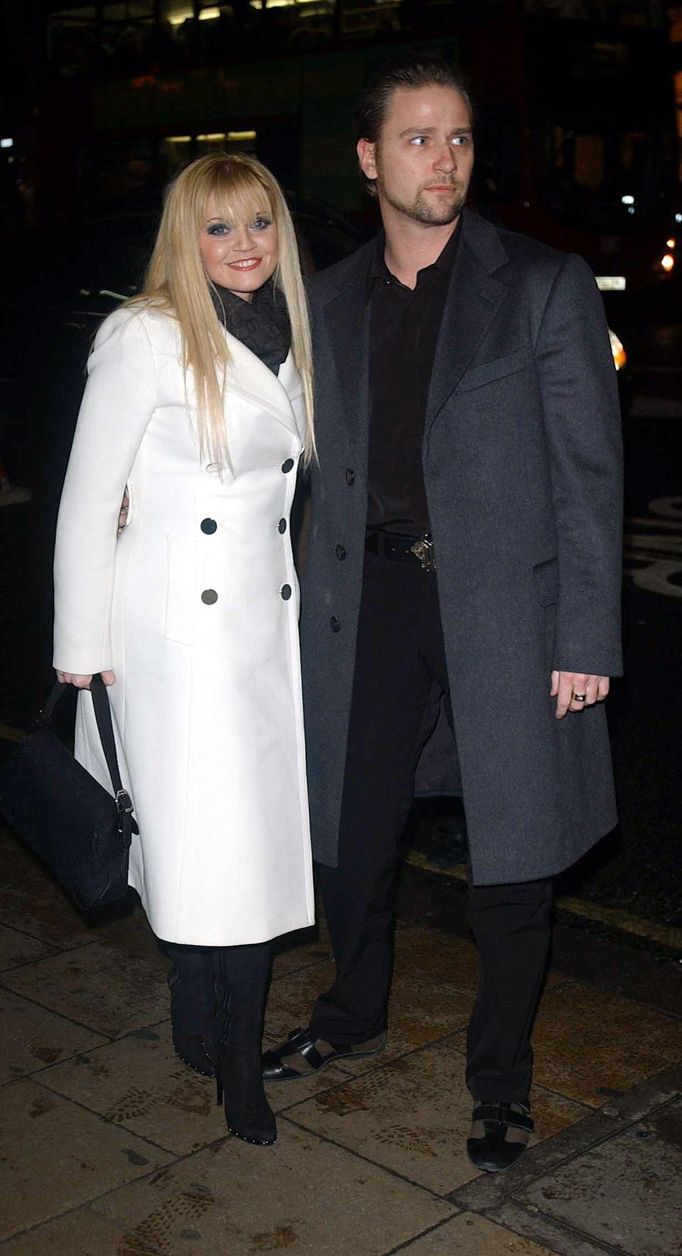 Danniella Westbrook and husband Kevin Jenkins arrives for the UK celebrity film premiere of Scary Movie 3, held at the UGC cinema Haymarket, central London.   (Photo by Andy Butterton - PA Images/PA Images via Getty Images)