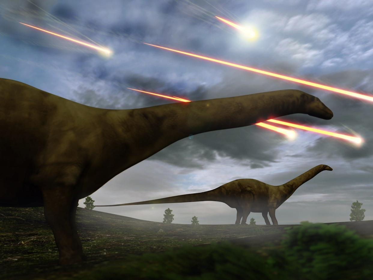 dinosaurs asteroid strike impact extinction event global disaster shutterstock_408550594