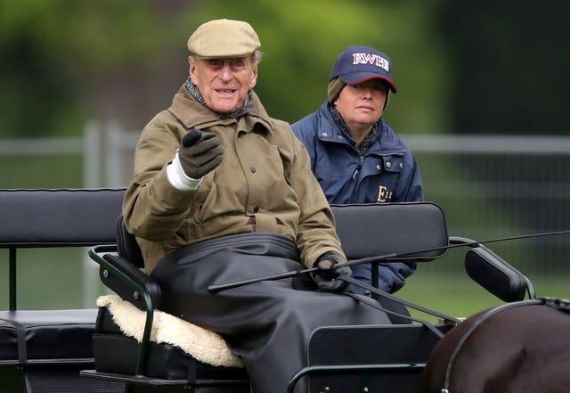 Philip at the Royal Windsor Horse Show