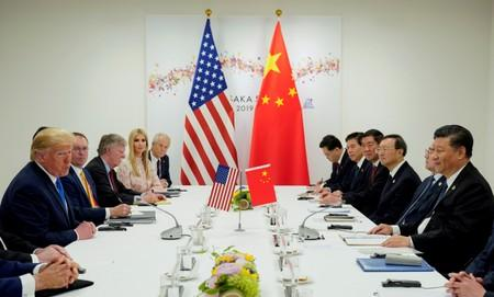 FILE PHOTO: FILE PHOTO: Trump meets Xi at the G20 leaders summit in Osaka, Japan