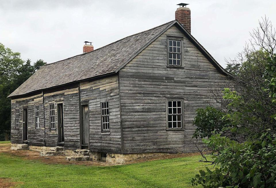"""<p><strong>Hollenberg Pony Express Station - Hanover, KS</strong><br></p><p>Built in 1857, the Hollenberg Pony Express Station in Hanover served travelers on the Oregon Trail. The state took over the building after it closed in 1963. Visitors have been said to hear disembodied voices, and <a href=""""https://www.vacationsmadeeasy.com/TheBLT/HauntedKansasRoadTrip781.html"""" rel=""""nofollow noopener"""" target=""""_blank"""" data-ylk=""""slk:many claim"""" class=""""link rapid-noclick-resp"""">many claim</a> the spirit of the original owner, Mr. Hollenberg, still lurks the property. </p><p>Photo: Wikimedia Commons/<a href=""""https://en.wikipedia.org/wiki/Hollenberg_Pony_Express_Station#/media/File:Hollenberg-home-station-pony-express.jpg"""" rel=""""nofollow noopener"""" target=""""_blank"""" data-ylk=""""slk:Art davis"""" class=""""link rapid-noclick-resp"""">Art davis</a></p>"""