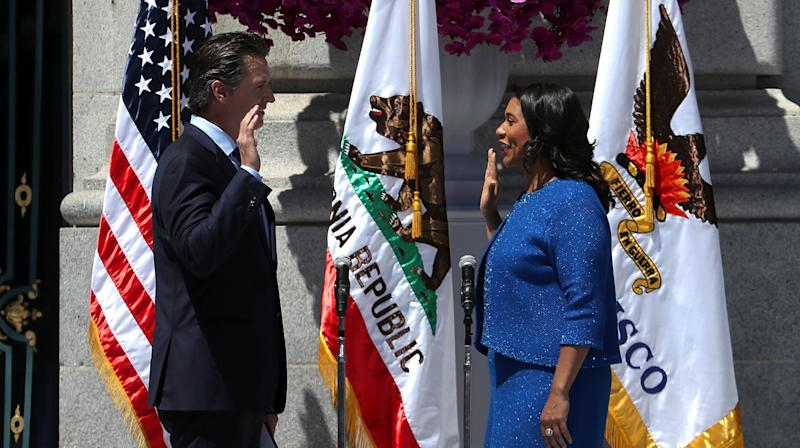 London Breed Sworn In As San Francisco's First Black Female Mayor