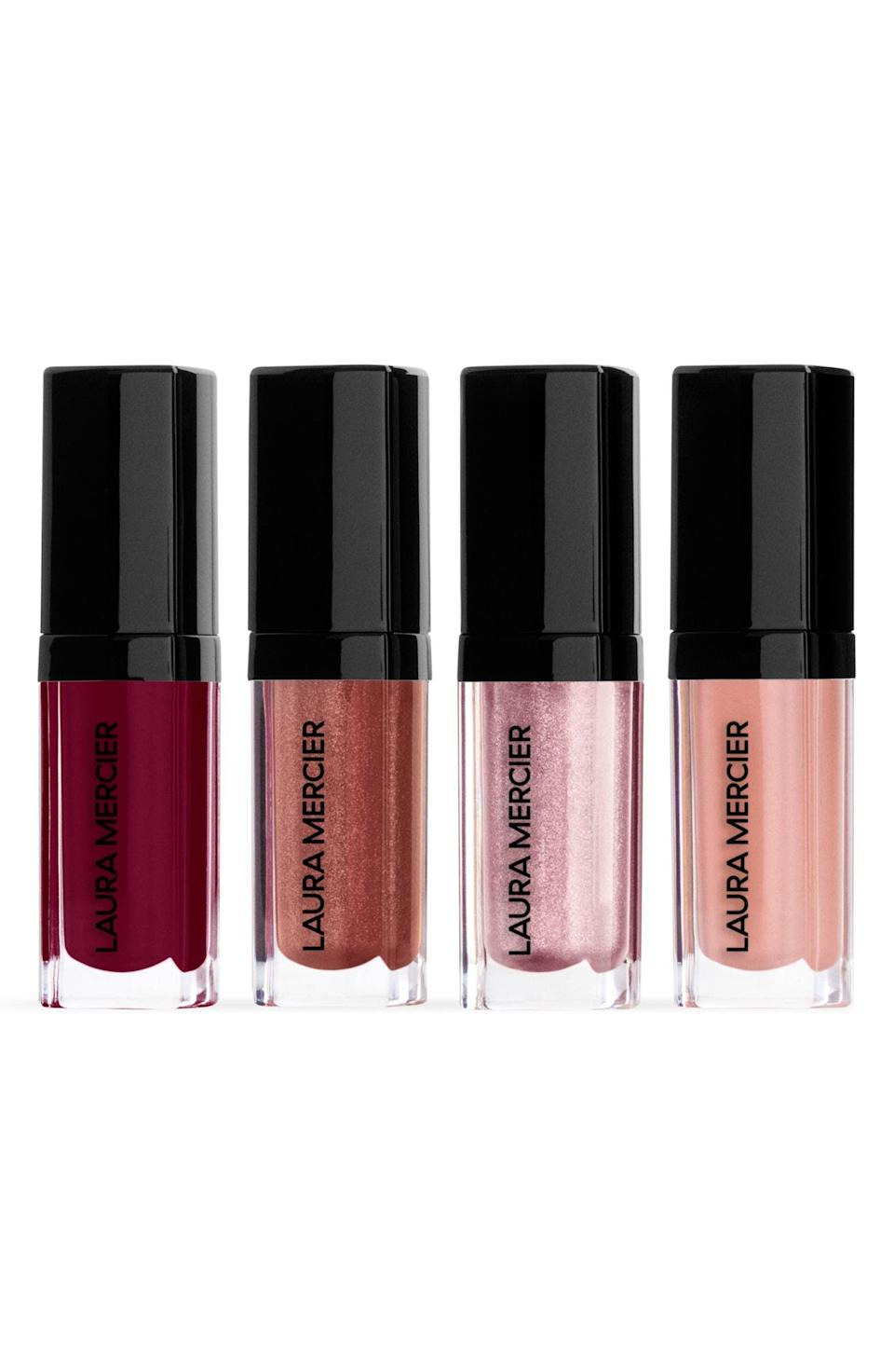 <p>Top off a gorgeous lip with the <span>Laura Mercier Kisses From the Balcony Lip Glacé Lip Gloss Set</span> ($29, originally $45).</p>