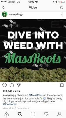 Post on Snoop Dogg's Instagram on the evening of May 10, 2017