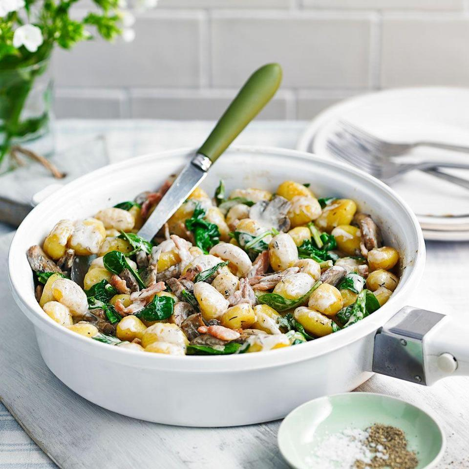"""<p>Rich and sumptuous flavours – ideal for an indulgent and speedy midweek feast</p><p><strong>Recipe: <a href=""""https://www.goodhousekeeping.com/uk/food/recipes/a563905/creamy-fried-gnocchi/"""" rel=""""nofollow noopener"""" target=""""_blank"""" data-ylk=""""slk:Creamy fried gnocchi"""" class=""""link rapid-noclick-resp"""">Creamy fried gnocchi</a></strong></p>"""