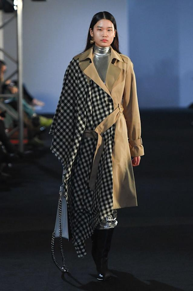 half-and-half fashion trend coat