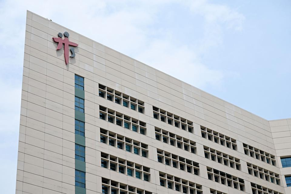 The exterior of Tan Tock Seng Hospital. (PHOTO: ROSLAN RAHMAN/AFP via Getty Images)
