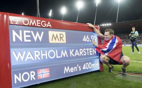 <span>Karsten Warholm is one of the favourites for the 400m hurdles</span> <span>Credit: REX </span>