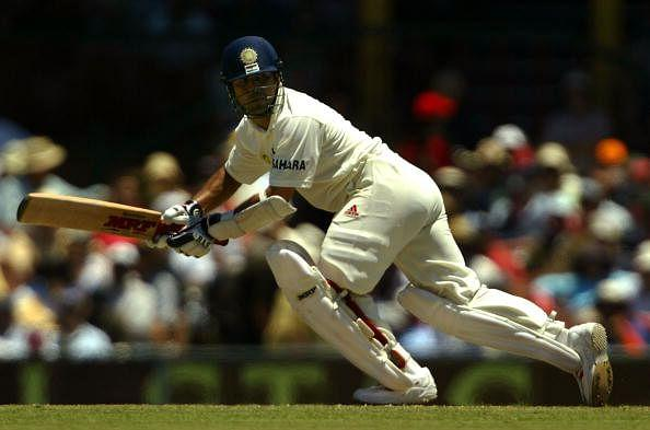 SYDNEY, AUSTRALIA - JANUARY 3: Sachin Tendulkar of India in action during day two of the 4th Test between Australia and India at the SCG on January 3, 2004 in Sydney, Australia. (Photo by Nick Laham/Getty Images)