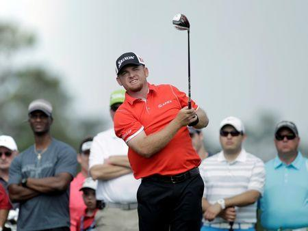 Apr 2, 2015; Humble, TX, USA; J.B. Holmes tees off during the first round of the Shell Houston Open at Golf Club of Houston - The Tournament Course. Erich Schlegel-USA TODAY Sports
