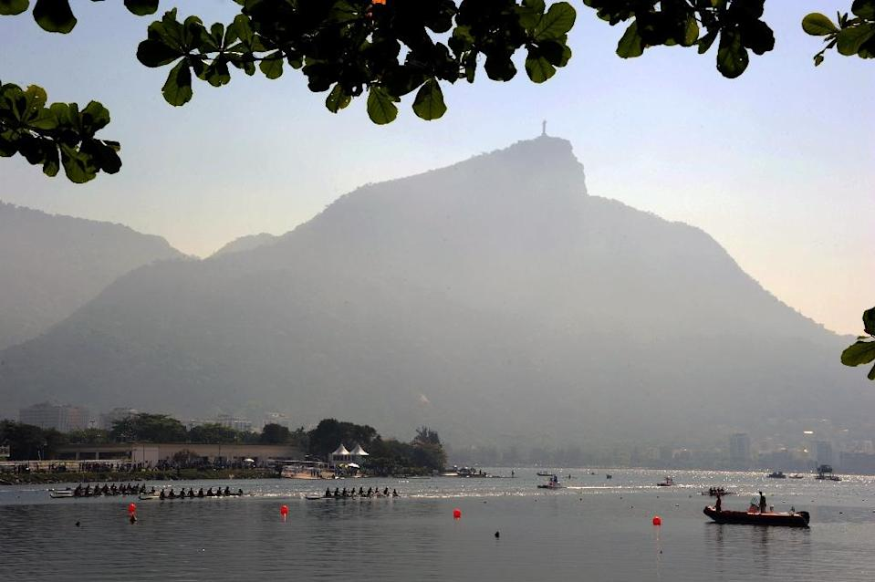 The one-year countdown will be marked by the holding of a Paralympic Festival next Monday, September 7, at the city's Lagoa Rodrigo de Freitas, the lake overlooked by the iconic statue of Christ the Redeemer (AFP Photo/Tasso Marcelo)