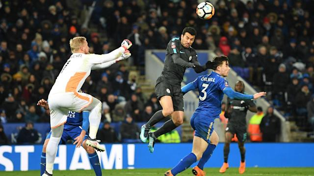 "The Denmark international was described as a ""fantastic keeper"" by his Leicester City boss after Chelsea's win at the King Power Stadium"