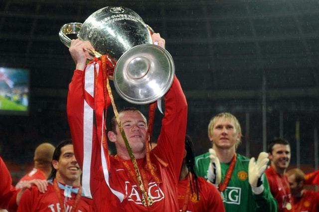 Rooney won the Champions League in 2008 after Manchester United beat Chelsea on penalties.