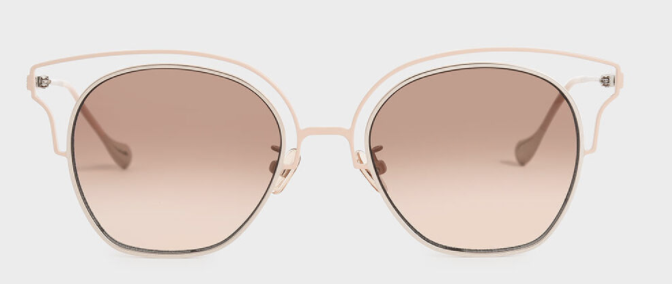 PHOTO: Charles & Keith. Cut-Out Tinted Sunglasses