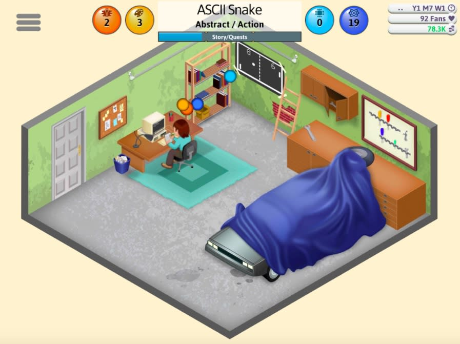 Live through the horrors of building your own video game in 'Game Dev Tycoon.'