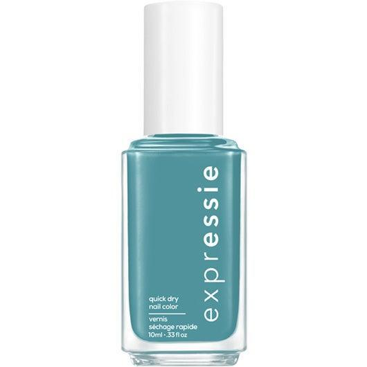 """<h3>Up Up & Away Message</h3><br>If this <a href=""""https://www.refinery29.com/en-us/2019/08/240293/teal-nail-polish"""" rel=""""nofollow noopener"""" target=""""_blank"""" data-ylk=""""slk:teal"""" class=""""link rapid-noclick-resp"""">teal</a> tone were an away message, it would be """"in ur top 8 without even trying."""" We know that's true because we already wish it was our current manicure.<br><br><strong>Essie</strong> Essie Expressie Quick-Dry Nail Polish Dial It Up, $, available at <a href=""""https://go.skimresources.com/?id=30283X879131&url=https%3A%2F%2Fwww.ulta.com%2Fexpressie-quick-dry-nail-polish-dial-it-up-collection%3FproductId%3Dpimprod2021041"""" rel=""""nofollow noopener"""" target=""""_blank"""" data-ylk=""""slk:Ulta Beauty"""" class=""""link rapid-noclick-resp"""">Ulta Beauty</a>"""