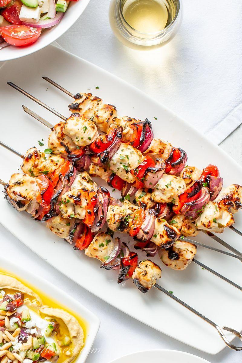 """<p>It'll take you just 30 minutes to whip up these kebabs—and yes, that includes the marinating time.</p><p><strong>Get the recipe at <a href=""""https://www.savingdessert.com/grilled-greek-chicken-recipe/"""" rel=""""nofollow noopener"""" target=""""_blank"""" data-ylk=""""slk:Saving Dessert"""" class=""""link rapid-noclick-resp"""">Saving Dessert</a>.</strong></p><p><strong><a class=""""link rapid-noclick-resp"""" href=""""https://go.redirectingat.com?id=74968X1596630&url=https%3A%2F%2Fwww.walmart.com%2Fip%2FThe-Pioneer-Woman-Timeless-Beauty-Pre-Seasoned-Plus-20-Cast-Iron-Double-Griddle%2F117723541&sref=https%3A%2F%2Fwww.thepioneerwoman.com%2Ffood-cooking%2Fmeals-menus%2Fg32188535%2Fbest-grilling-recipes%2F"""" rel=""""nofollow noopener"""" target=""""_blank"""" data-ylk=""""slk:SHOP GRIDDLES"""">SHOP GRIDDLES </a></strong><strong><br></strong></p>"""