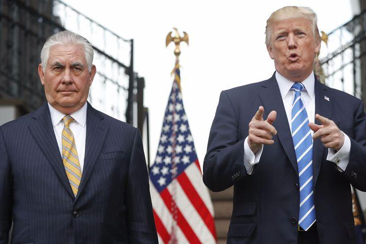 "<img alt=""""/><p>Diplomacy isn't easy ... especially if your boss is Donald Trump. </p> <p>Speaking at Stanford on Wednesday, according to <a rel=""nofollow"" href=""https://www.vanityfair.com/news/2018/01/rex-tillerson-donald-trump-twitter-foreign-policy""><em>Vanity Fair</em></a>, Secretary of State Rex Tillerson shared this fun insight into White House foreign policy:</p>  <p>Uhhh ... what? So the secretary of state just looks at print-outs of Trump's incoherent tweets and tries to turn them into something resembling coherent foreign policy?</p> <div><p>SEE ALSO: <a rel=""nofollow"" href=""http://mashable.com/2018/01/03/screw-your-terms-of-service/"">Screw your terms of service</a></p></div> <p>Well, let's look at what ol' Rexy has to deal with. </p> <div><div><blockquote> <p>North Korean Leader Kim Jong Un just stated that the ""Nuclear Button is on his desk at all times."" Will someone from his depleted and food starved regime please inform him that I too have a Nuclear Button, but it is a much bigger & more powerful one than his, and my Button works!</p> <p>— Donald J. Trump (@realDonaldTrump) <a rel=""nofollow"" href=""https://twitter.com/realDonaldTrump/status/948355557022420992?ref_src=twsrc%5Etfw"">January 3, 2018</a></p> </blockquote></div></div> <div><div><blockquote> <p>Why would Kim Jong-un insult me by calling me ""old,"" when I would NEVER call him ""short and fat?"" Oh well, I try so hard to be his friend - and maybe someday that will happen!</p> <p>— Donald J. Trump (@realDonaldTrump) <a rel=""nofollow"" href=""https://twitter.com/realDonaldTrump/status/929511061954297857?ref_src=twsrc%5Etfw"">November 12, 2017</a></p> </blockquote></div></div> <div><div><blockquote> <p>With Mexico being one of the highest crime Nations in the world, we must have THE WALL. Mexico will pay for it through reimbursement/other.</p> <p>— Donald J. Trump (@realDonaldTrump) <a rel=""nofollow"" href=""https://twitter.com/realDonaldTrump/status/901802524981817344?ref_src=twsrc%5Etfw"">August 27, 2017</a></p> </blockquote></div></div> <div><div><blockquote> <p>Big increase in traffic into our country from certain areas, while our people are far more vulnerable, as we wait for what should be EASY D!</p> <p>— Donald J. Trump (@realDonaldTrump) <a rel=""nofollow"" href=""https://twitter.com/realDonaldTrump/status/829384587482656768"">February 8, 2017</a></p> </blockquote></div></div> <p>Behold, the foundations of U.S. dipomacy. But just in case Tillerson needs some extra input, here's a look at some of Trump's tweets from before he became president. </p> <div><div><blockquote> <p>The concept of global warming was created by and for the Chinese in order to make U.S. manufacturing non-competitive.</p> <p>— Donald J. Trump (@realDonaldTrump) <a rel=""nofollow"" href=""https://twitter.com/realDonaldTrump/status/265895292191248385?ref_src=twsrc%5Etfw"">November 6, 2012</a></p> </blockquote></div></div> <div><div><blockquote> <p>Do you think Putin will be going to The Miss Universe Pageant in November in Moscow - if so, will he become my new best friend?</p> <p>— Donald J. Trump (@realDonaldTrump) <a rel=""nofollow"" href=""https://twitter.com/realDonaldTrump/status/347191326112112640?ref_src=twsrc%5Etfw"">June 19, 2013</a></p> </blockquote></div></div> <p>Tillerson doesn't deserve our pity. He wasn't forced to become Trump's Twitter interpreter. But, yeah, good luck with that, Rex. </p> <div> <h2><a rel=""nofollow"" href=""http://mashable.com/2018/01/16/robotic-closet-fold-clothes/"">WATCH: This robotic closet knows how to fold and sort your clothes</a></h2> <div> <p><img alt=""Https%3a%2f%2fblueprint api production.s3.amazonaws.com%2fuploads%2fvideo uploaders%2fdistribution thumb%2fimage%2f84130%2f77384023 3c6f 49ad 96d4 4d6bee314ff5""></p>   </div> </div>"