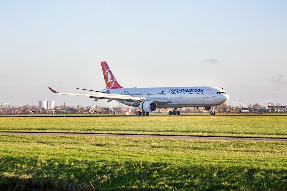 Turkish Airlines Airbus A330 Landing In Amsterdam