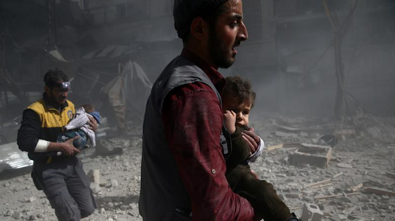 Syrian Regime's Airstrikes Kill Scores Of Besieged Civilians In Eastern Ghouta