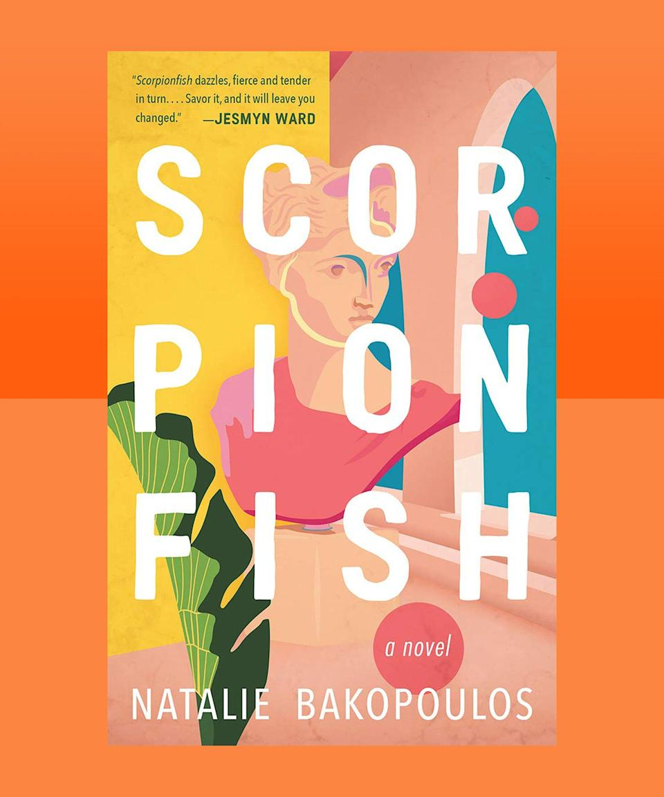 """<strong><em>Scorpionfish</em> by Natalie Bakopoulos (<a href=""""https://bookshop.org/books/scorpionfish/9781947793750"""" rel=""""nofollow noopener"""" target=""""_blank"""" data-ylk=""""slk:available here"""" class=""""link rapid-noclick-resp"""">available here</a>)</strong><br><br>There is a particular type of displacement that only occurs when returning to your childhood home after a long absence. It's not only that you have changed, even as you've retained all your memories — it's that your home has changed, too, even as it holds your shared history in its foundation. When, following the unexpected death of her parents, 30-something Mira returns from the U.S. to her childhood home in Athens, a flood of memories crashes up against a wave of new experiences, including an electric connection with an elusive neighbor. Bakopoulos expertly weaves a narrative about the ways in which our identity is intimately tethered with those of the people around us, and the places from where we all come. Her language is lucid and precise, yet still easy to lose yourself in — it's only when you finish that you realize how much of Mira's story now feels lost inside you, embedded, like its been written on your skin."""