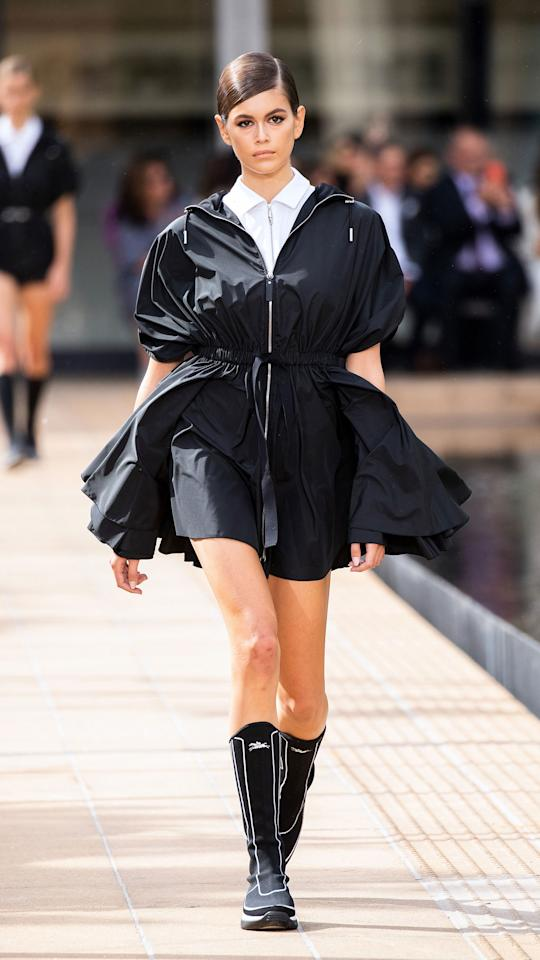 This look gave new definition to the term little black dress.