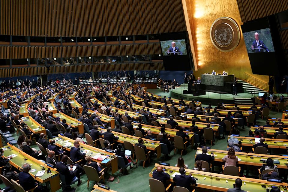 The 76th Session of the U.N. General Assembly on Tuesday.