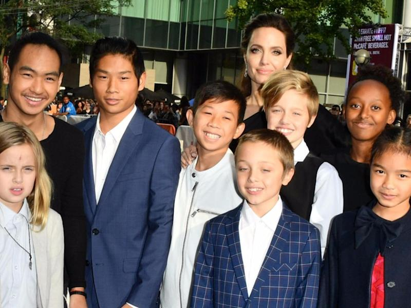 Ange was at the 2017 Toronto International Film Festival with all her kids. Source: Getty