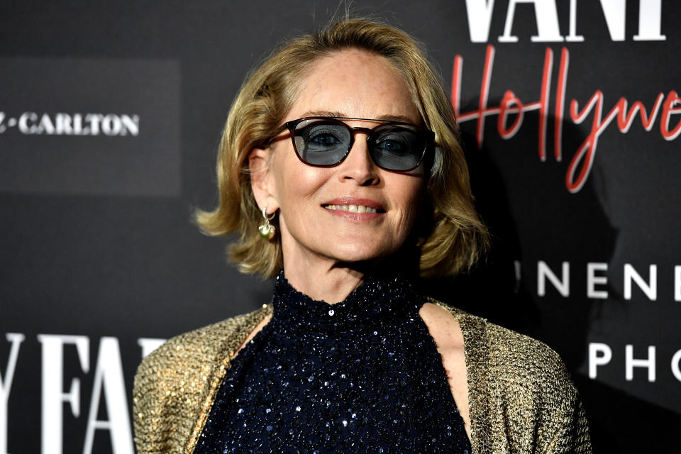 CENTURY CITY, CALIFORNIA - FEBRUARY 04: Sharon Stone attends Vanity Fair: Hollywood Calling - The Stars, The Parties And The Power Brokers  at Annenberg Space For Photography on February 04, 2020 in Century City, California. (Photo by Frazer Harrison/Getty Images)