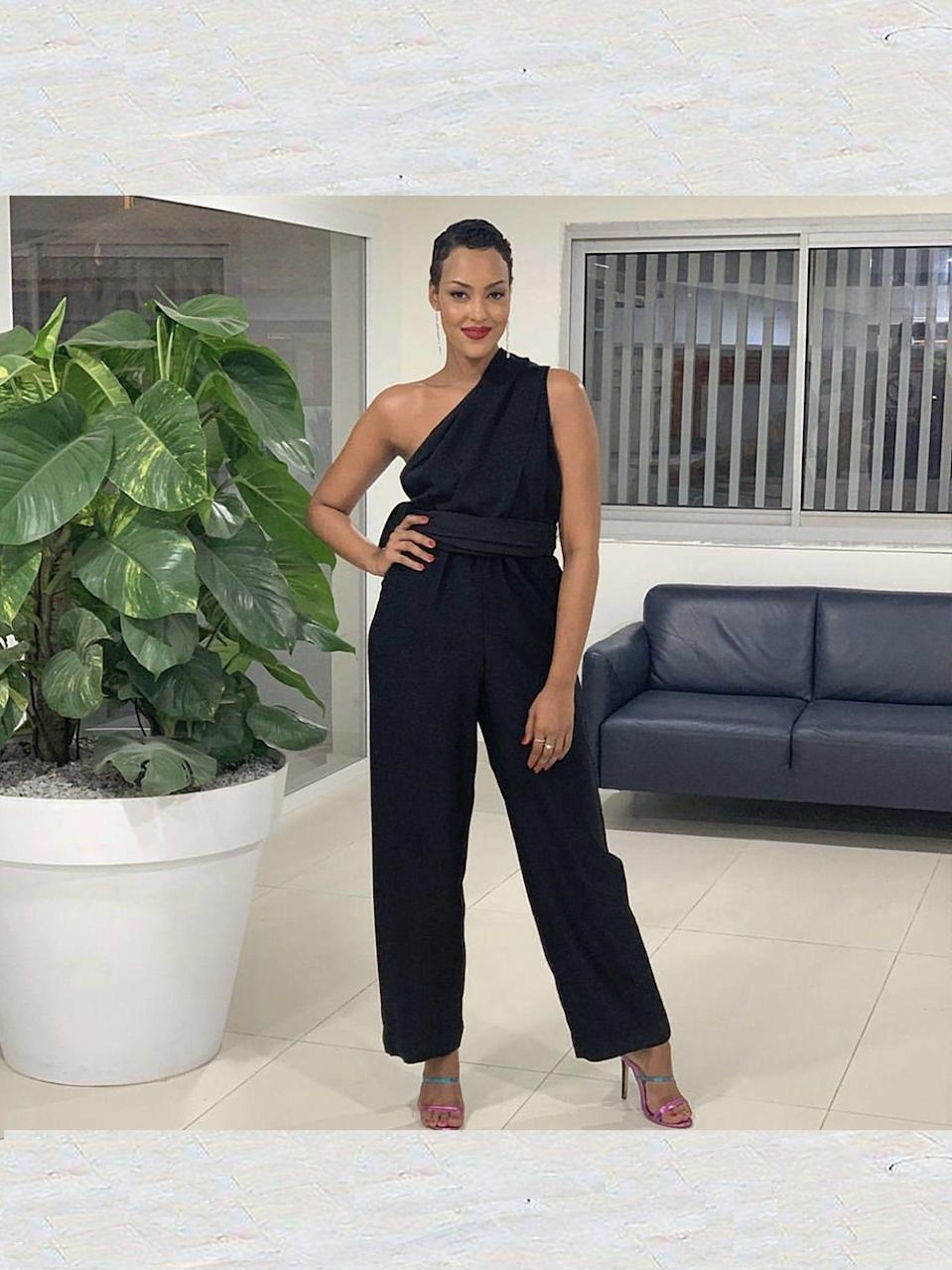 """<p><strong>DIARRABLU</strong></p><p>diarrablu.com</p><p><strong>$195.00</strong></p><p><a href=""""https://diarrablu.com/collections/jumpsuits/products/umy-noir-convertible-jumpsuit"""" rel=""""nofollow noopener"""" target=""""_blank"""" data-ylk=""""slk:Shop Now"""" class=""""link rapid-noclick-resp"""">Shop Now</a></p><p>If you are looking to shake things up, opt for a jumpsuit! They are simple, but chic and super easy to style. You can wear this particular item 19 different ways, which is pretty incredible. </p>"""