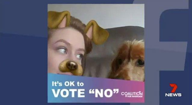 "The teenager said she she put the slogan ""it's okay to vote no,"