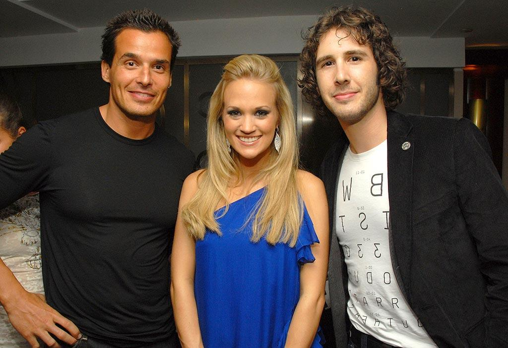 "Antonio Sabato Jr., Carrie Underwood, and Josh Groban are a trio you don't see together very often. Kevin Mazur/<a href=""http://www.wireimage.com"" target=""new"">WireImage.com</a> - September 6, 2007"