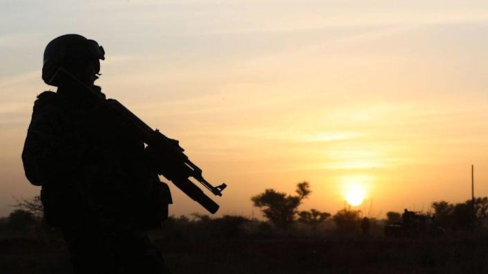 Niger Soldiers at Sunset-2019