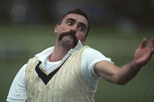 Merv Hughes -- an Australian player of the yesteryear was known to sport a moustache