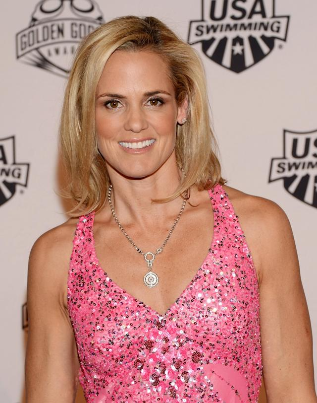 NEW YORK, NY - NOVEMBER 19: Former Olympic athlete Dara Torres attends the 2012 Golden Goggle awards at the Marriott Marquis Times Square on November 19, 2012 in New York City. (Photo by Stephen Lovekin/Getty Images)