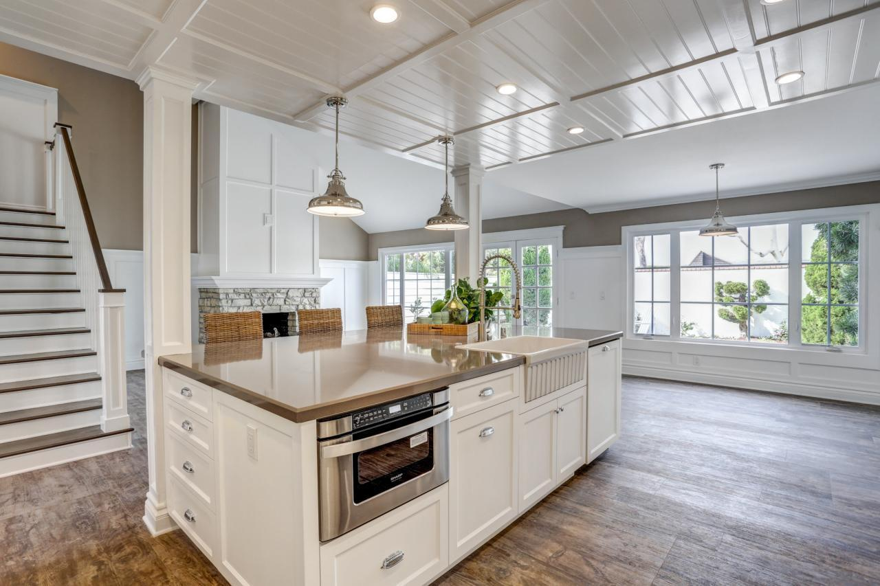 """<p><a href=""""http://bit.ly/1JEFLuJ"""">Hardwood floors</a> work with almost any style — year in, year out. Given that flooring is the biggest expanse of product you'll see in your new space, designer Christina Fluegge of <a href=""""http://bit.ly/1JEFMig"""">Greige Design</a>recommends going with a high-quality hardwood that allows you to refinish as time goes by rather than having to replace. """"I currently have a love affair with a sandable engineered wood floor that's hand-distressed and has a wax finish,"""" Fluegge says. """"It's simple to clean and takes scratches and regular everyday living in stride."""" (Photo by KC Sterling for Greige Design)<br /></p>"""