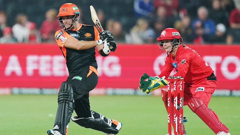 Liam Livingstone's 59 runs off 39 balls has guided Perth to a six-wicket win over the Renegades