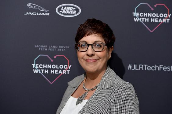 Benita Mehra speaks at the Technology with Heart: Jaguar Land Rover's Tech Fest at Central St Martins (Jeff Spicer/Getty Images)