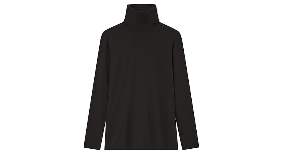 Women Heattech Jersey Turtleneck Thermal Top
