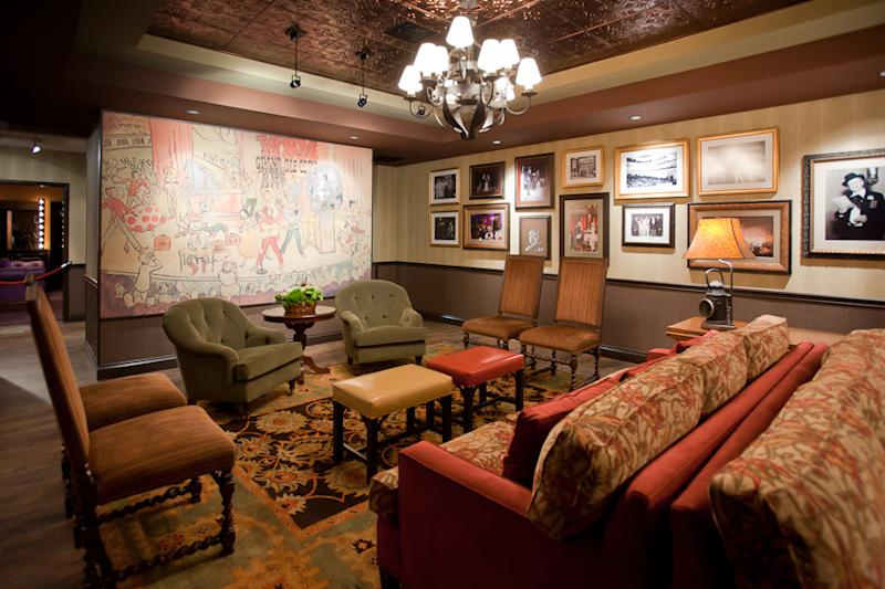 In this image made available by the Grand Ole Opry in Nashville. TN., shows the Green Room on Oct. 28, 2010. The room is also referred to as the family room where the artists' guests can stay during the performance. The Grand Ole Pry is offering the VIP Behind the Opry Curtain Tour and Opry House Post Show Tour showing a variety of dressing rooms and inner workings of the Opry moments before the big curtain goes up. (AP Photo/Chris Hollo, HO)