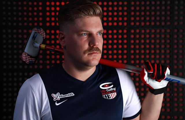 PARK CITY, UT – SEPTEMBER 26: Curler Matt Hamilton poses for a portrait during the Team USA Media Summit ahead of the PyeongChang 2018 Olympic Winter Games. (Getty Images)