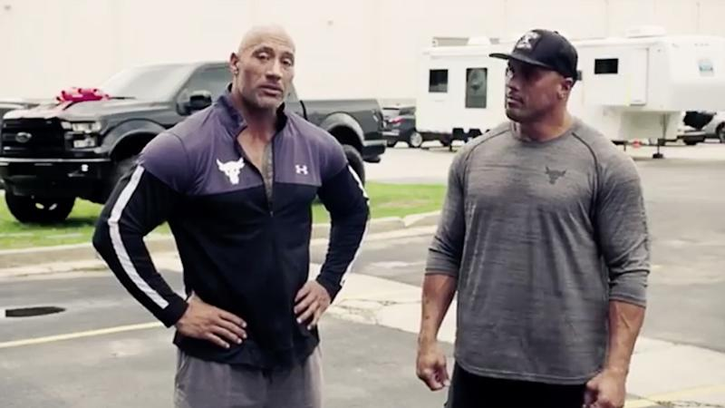 The Rock Surprises Stunt Double And Cousin Tanaoi Reed With New Truck