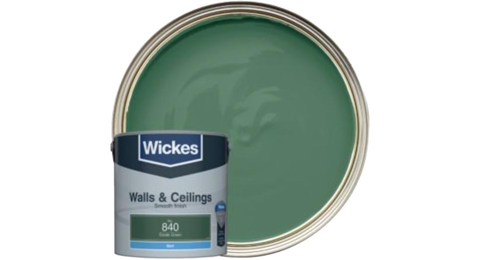 Wickes Estate Green - No. 840 Vinyl Matt Emulsion Paint
